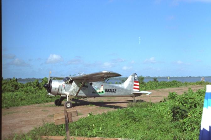 Beaver on airstrip