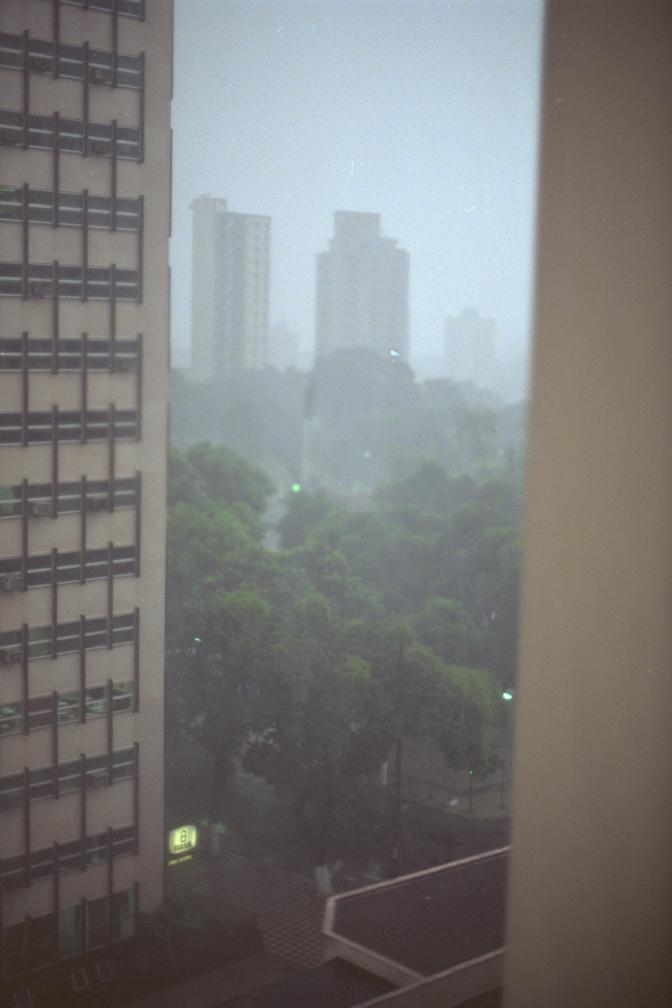 Belem rain shower