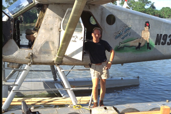 seaplane at movie location